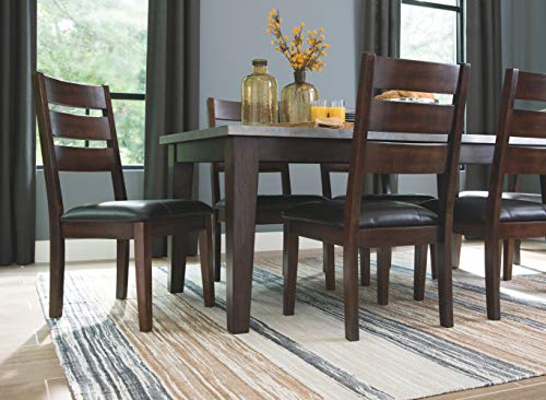 Signature Design By Ashley Larchmont Dining Room Table Burnished Dark Brown 0 5
