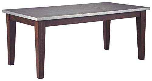 Signature Design By Ashley Larchmont Dining Room Table Burnished Dark Brown 0