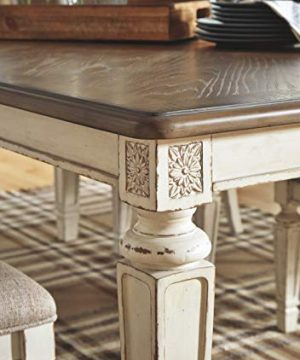 Signature Design By Ashley Realyn Rectangular Dining Room Extention Table Casual Style Chipped White 0 4 300x360