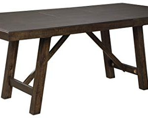 Signature Design By Ashley Rokane Rectangular Dining Room Extention Table Casual Style Brown 0 300x240