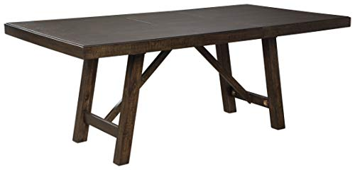 Signature Design By Ashley Rokane Rectangular Dining Room Extention Table Casual Style Brown 0