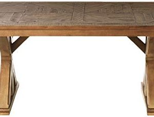 Signature Design By Ashley Dining Room Table Grindleburg WhiteLight Brown 0 0 300x229