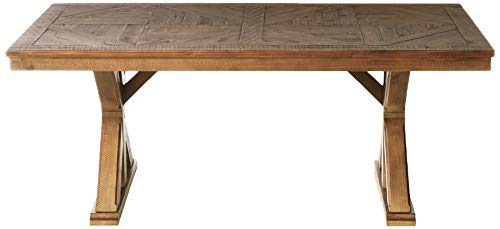 Signature Design By Ashley Dining Room Table Grindleburg WhiteLight Brown 0 0