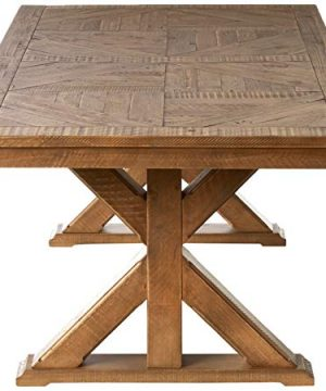 Signature Design By Ashley Dining Room Table Grindleburg WhiteLight Brown 0 1 300x360