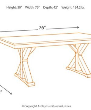 Signature Design By Ashley Dining Room Table Grindleburg WhiteLight Brown 0 2 300x360