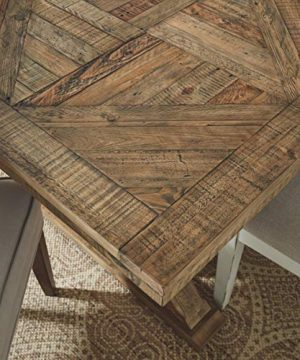 Signature Design By Ashley Dining Room Table Grindleburg WhiteLight Brown 0 3 300x360