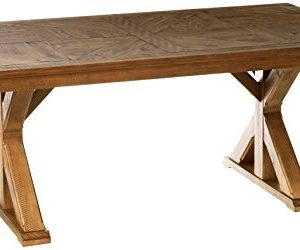 Signature Design By Ashley Dining Room Table Grindleburg WhiteLight Brown 0 300x250