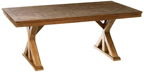 Signature Design By Ashley Dining Room Table Grindleburg WhiteLight Brown 0