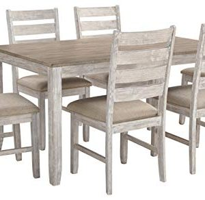 Signature Design By Ashley Skempton Dining Room Table And Chair Set 7 Piece Set Antique White 0 300x292