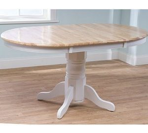 Simple Living Products Expandable Oak Pedestal Round Dining Table 0 300x270