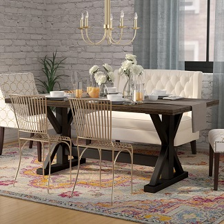 Solid Wood Farmhouse Dining Table 2