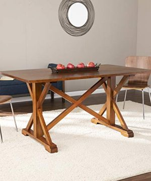 Southern Enterprises Cardwell Farmhouse Dining Table Multicolor 0 300x360