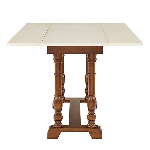 Southern Enterprises Edenderry Dining Table Dark Tobacco And Ivory 0 0