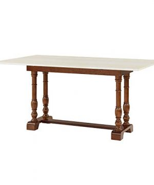 Southern Enterprises Edenderry Dining Table Dark Tobacco And Ivory 0 1 300x360