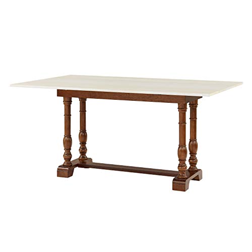 Southern Enterprises Edenderry Dining Table Dark Tobacco And Ivory 0 1