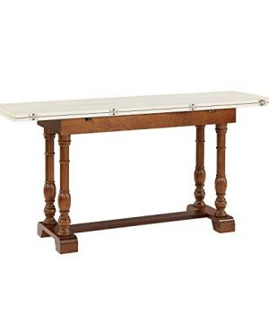 Southern Enterprises Edenderry Dining Table Dark Tobacco And Ivory 0 3 300x360