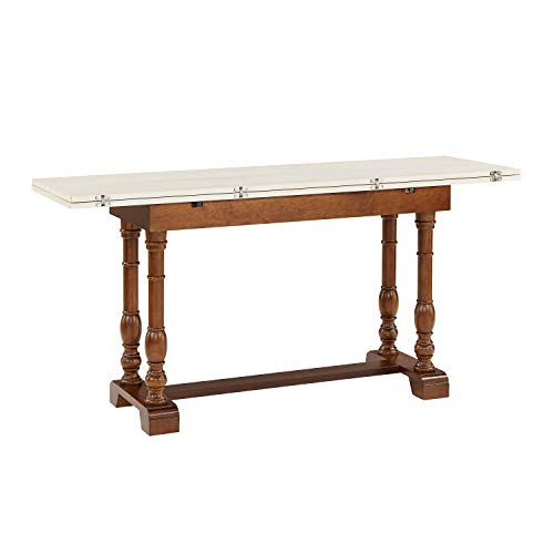Southern Enterprises Edenderry Dining Table Dark Tobacco And Ivory 0 3