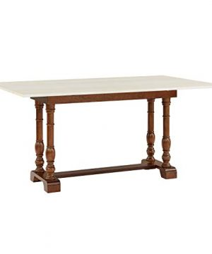 Southern Enterprises Edenderry Dining Table Dark Tobacco And Ivory 0 300x360