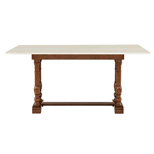 Southern Enterprises Edenderry Dining Table Dark Tobacco And Ivory 0 4