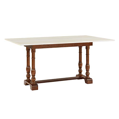 Southern Enterprises Edenderry Dining Table Dark Tobacco And Ivory 0