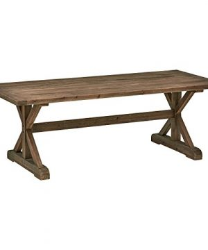 Stone Beam Bradhurst Rustic Wood Dining Table 30H Brown 0 300x360