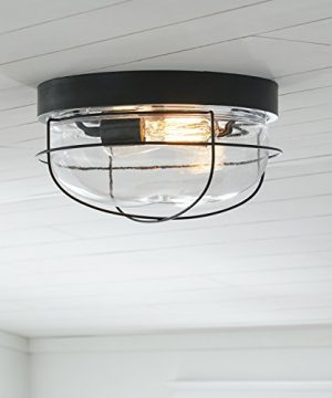 Stone Beam Industrial Cage Flush Mount Indoor Ceiling Fixture With 2 Light Bulbs 14 Inch Oil Rubbed Bronze 0 3 300x360