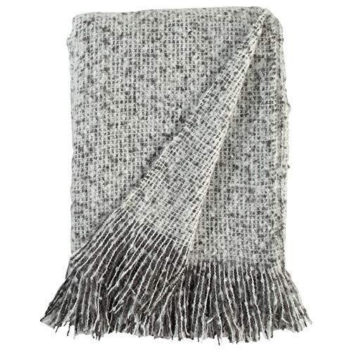 Stone Beam Oversized Stripe Brushed Weave Throw Blanket 60 X 80 Grey White 0 1