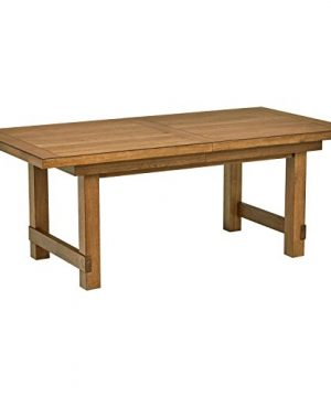 Stone Beam Parson Trestle Dining Table 78 96W Oak 0 300x360