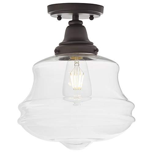Amazon Brand Stone Beam Vintage Farmhouse Flush Mount Ceiling Lighting Fixture With Led Light Bulb And Clear Glass Farmhouse Goals