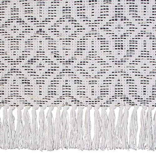 Stone Beam Woven Design Modern Throw Blanket 80 X 60 Inch White And Gray 0 1