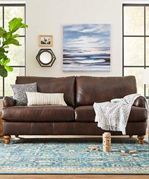 Stone Beam Woven Design Modern Throw Blanket 80 X 60 Inch White And Gray 0 4 300x360