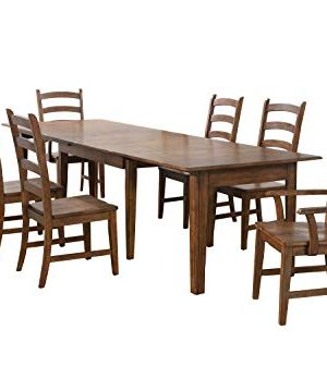 Sunset Trading Simply Brook Dining Table Set Amish Brown 0 300x347