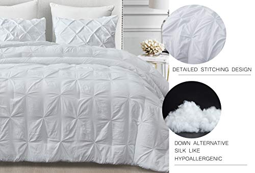 SupraSoft Mari Ultra Soft Stone Washed Comforter Set White Twins 0 0