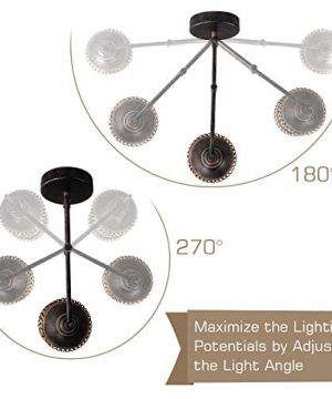 Swing Arm Wall Lamp 2 In 1 360 Angle Adjustable Industrial Rustic Wall Sconces With Plug In Hardwired ONOff Switch Glass Shade Retro Iron Wall Light Fixtures For Bedside Bedroom Bathroom Living Room 0 2 300x360