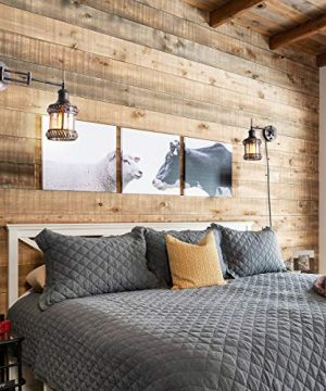 Swing Arm Wall Lamp 2 In 1 360 Angle Adjustable Industrial Rustic Wall Sconces With Plug In Hardwired ONOff Switch Glass Shade Retro Iron Wall Light Fixtures For Bedside Bedroom Bathroom Living Room 0 4 300x360