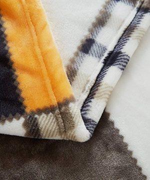 Tache Orange Fall Farmhouse Super Soft Warm Lightweight Plaid Fleece Patchwork Decorative Throw Blanket For Couch Sofa Lap 50x60 0 2 300x360