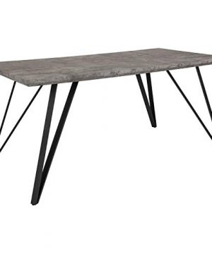 Taylor Logan Rectangular Dining Table 315 X 63 Faux Concrete Finish 0 300x360