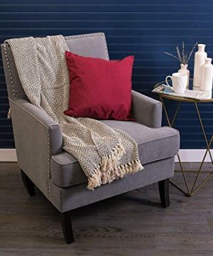 Throws Brown Throw Blanket Cotton Chevron Patterned Blanket Throw With Fringe For Chair Couch Picnic Camping Beach Everyday Use 0 4 300x360