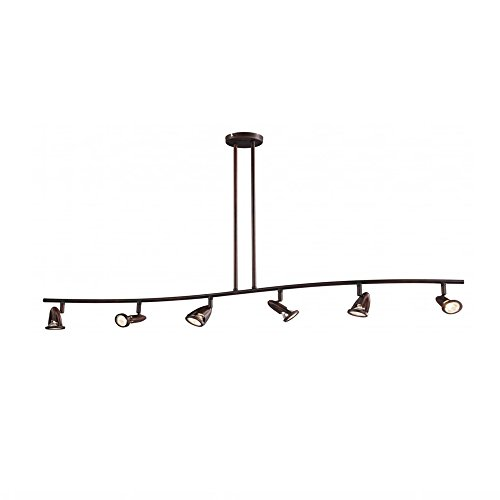 Trans Globe Imports W 466 6 ROB Transitional Six Track Light From Stingray Collection Dark Finish 700 Inches Rubbed Oil Bronze 0