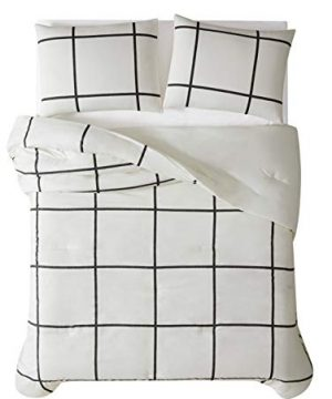 Truly Soft Everyday Kurt Black And White Stripe Comforter Twin XL Windowpane 0 3 300x360