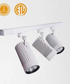 UPO Track Lighting Kit With 3 LED Light Super Bright With 3000 Lumens 4000K High End Commercial Track Lights Advanced Material Easy To Install ETL CTEL Certification White 0 3 300x360