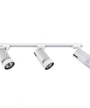 UPO Track Lighting Kit With 3 LED Light Super Bright With 3000 Lumens 4000K High End Commercial Track Lights Advanced Material Easy To Install ETL CTEL Certification White 0 300x360