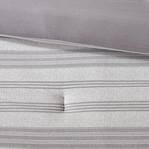 Urban Habitat Cole Stripe Print Ultra Soft Cotton Blend Jersey Knit Comforter Set Grey TwinTwin XL 0 2
