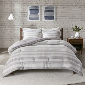 Queen Balmont Collection Emma Quilted 3 Piece Coverlet Set Grey