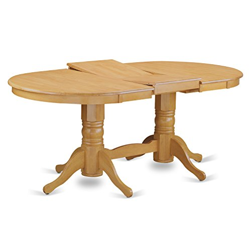 VAGR9 OAK W 9 PC Table Set Table And 8 Dining Chairs 0 1