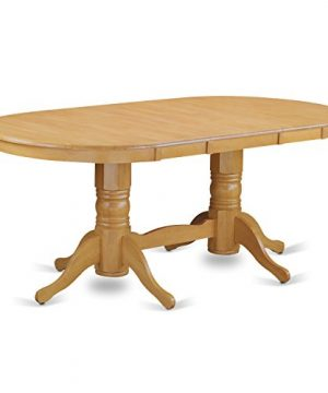 VAGR9 OAK W 9 PC Table Set Table And 8 Dining Chairs 0 2 300x360