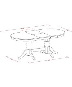 VAGR9 OAK W 9 PC Table Set Table And 8 Dining Chairs 0 3 300x360