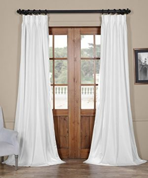 VPCH 110602 96 FP Signature Pleated Blackout Velvet Curtain 25 X 96 Off White 0 300x360