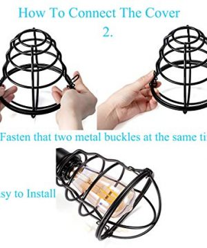 Vintage Semi Flush Mount Ceiling Light E26 E27 Base Edison Rustic Antique Metal Caged Industrial Ceiling Light Fixture For Hallway Porch Bathroom Stairway Bedroom Kitchen 2 Pack 0 3 300x360