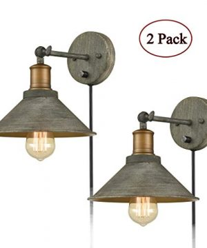 Vintage Swing Arm Wall Sconces Hardwired Or Plug In Bedroom Bath Wall Lamps Set Of 2 0 300x360